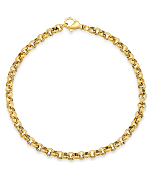 Small Link Gold Rolo Chain