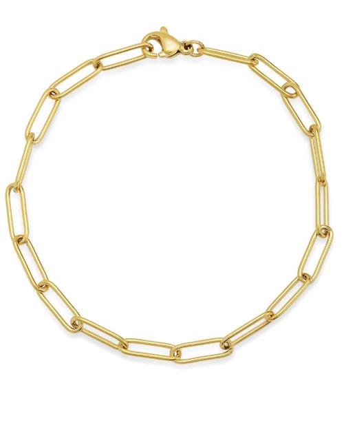 Elongated Oval Chain Link Bracelet