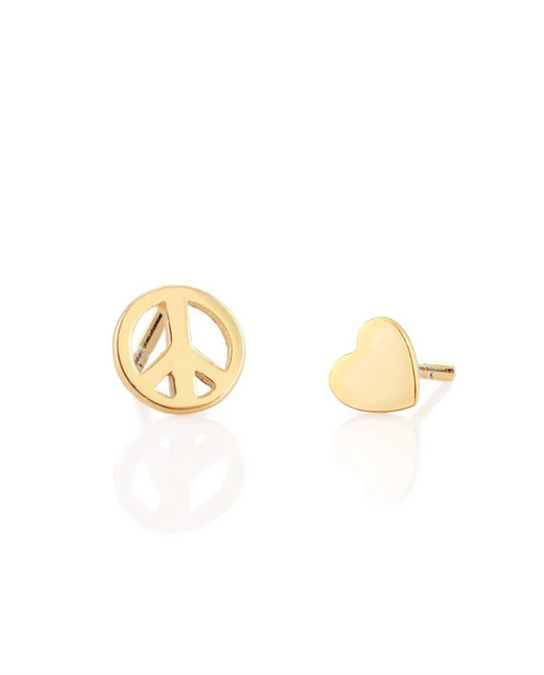 Peace/Heart Studs