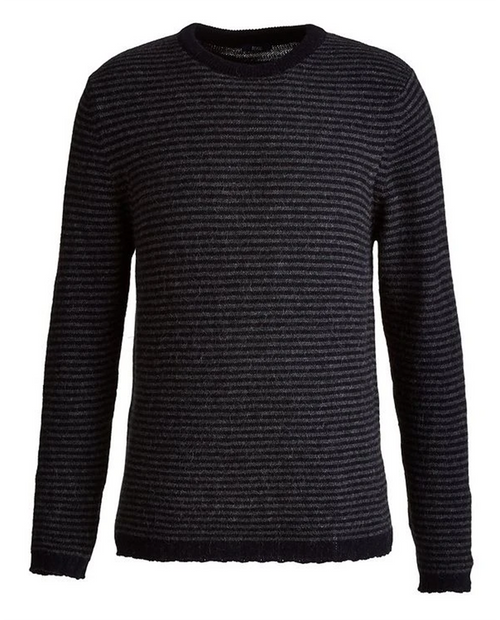 Mens Stripped Alpaca Crewneck