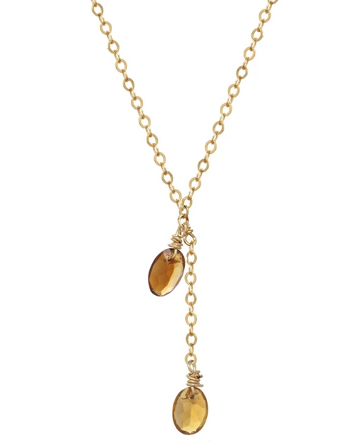 Gold Liva Oak Necklace