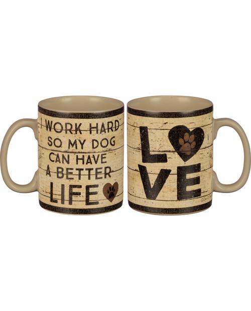Work Hard Dog Mug