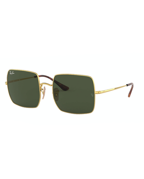 RAY BAN Square Gold / Green Classic