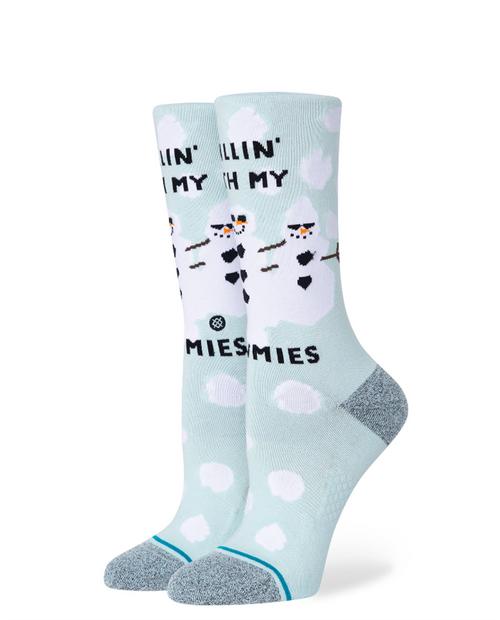 Womens With My Snowmies Socks