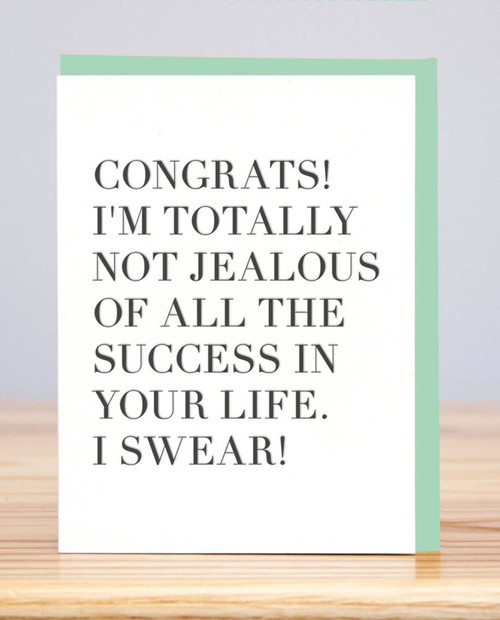 HUCKLEBERRY LETTERPRESS Congrats Jealous - Card