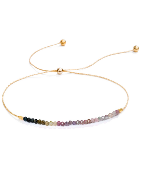 Natasha Slide Gemstone Bracelet