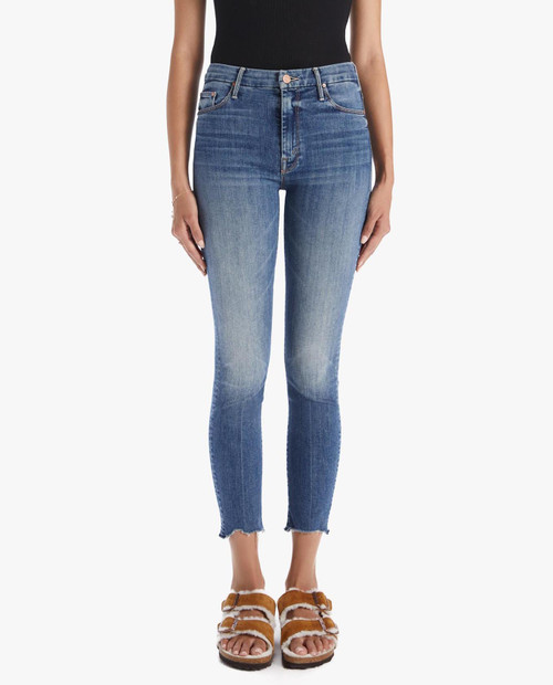 MOTHER Women's High Waisted Looker Ankle Fray in Walking on Coals