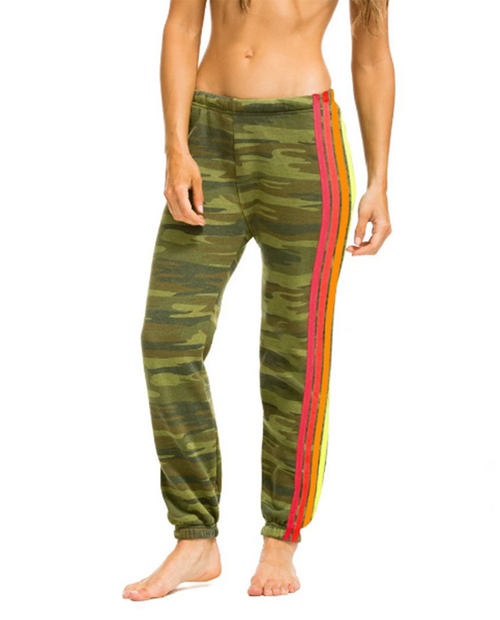Womens 4 Stripe Sweatpant