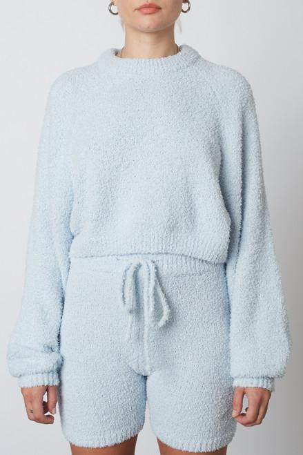 Womens Cropped Raglan Sweater