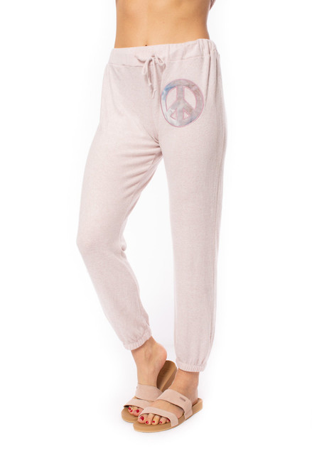 Peace Sign Patch Jogger