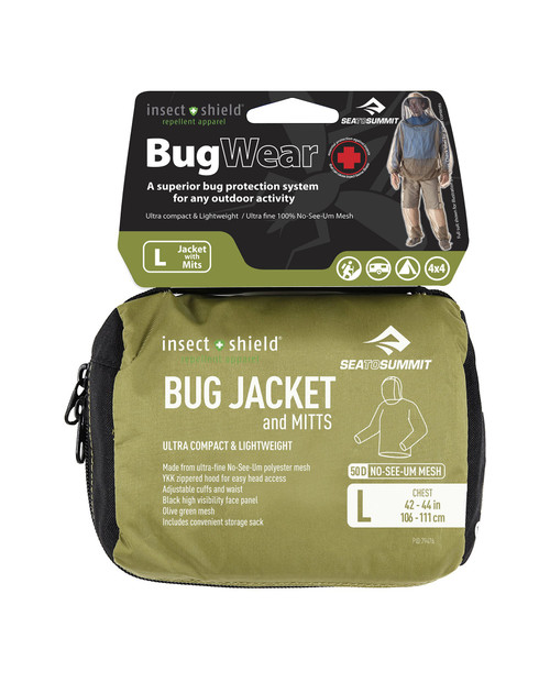 SEA TO SUMMIT Bug Jacket and Mitts with Insect Shield L