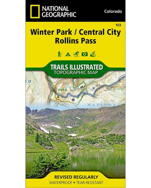 NATIONAL GEO MAPS Winter Park/Central City/Rollins Pass CO