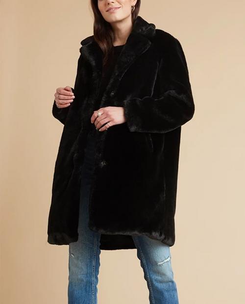 BELLA DAHL Women's Fur Midi Coat