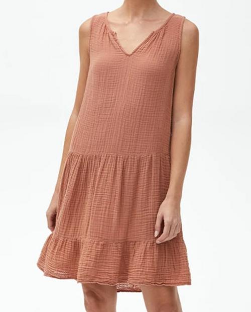 Womens Scarlett Flounce Dress