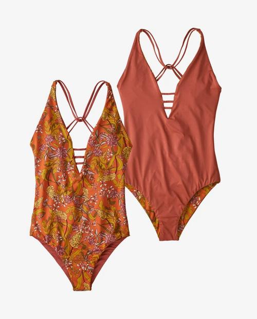 Womens Reversible Extended Break 1pc Swimsuit