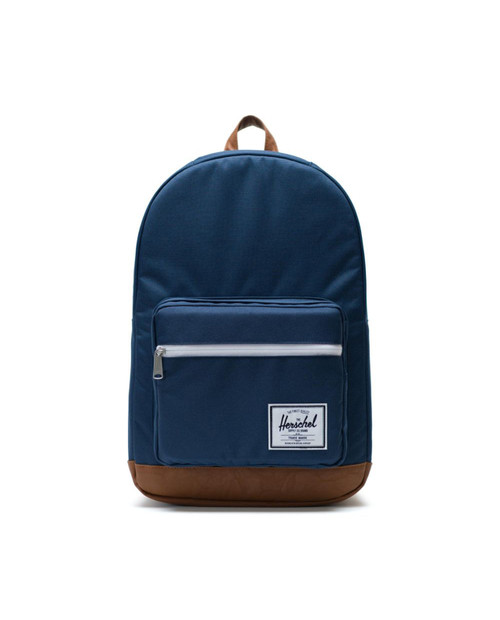 Pop Quiz - Navy/Tan Synthetic Leather
