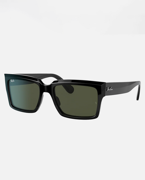 Inverness Sunglasses with Black Frame and Green Lens