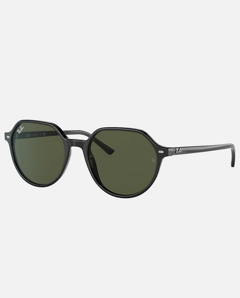 Thalia Sunglasses with Black Frame and Green Lens
