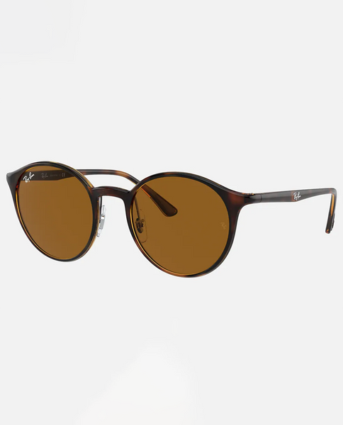 Injected Unisex Sunglasses With Havanna Frame and Brown Lens