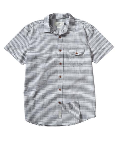 GRAYERS Mens Olsen Horizontal Stripe Short Sleeve Shirt