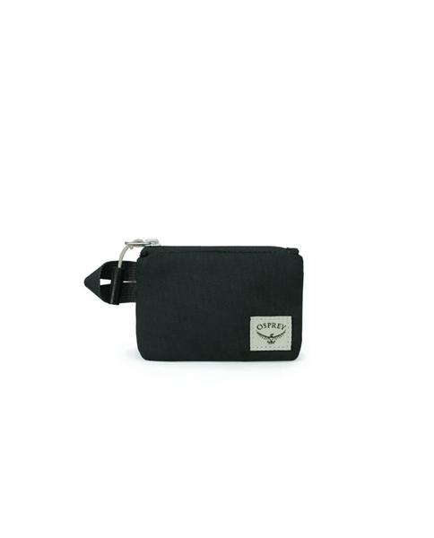 Arcane Small Zip Pouch in Stonewash Black