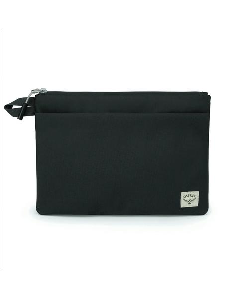 Arcane Large Zip Pouch in Stonewash Black