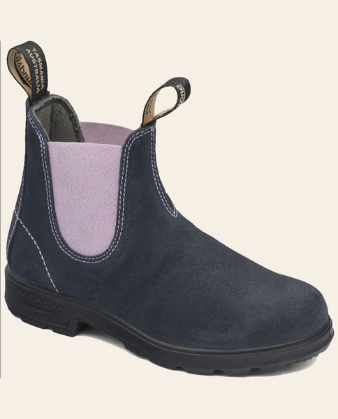 Womens Suede Boots - Navy