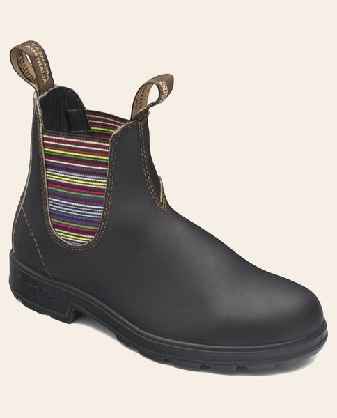 1409 Stripe Elastic V-Sided Boot