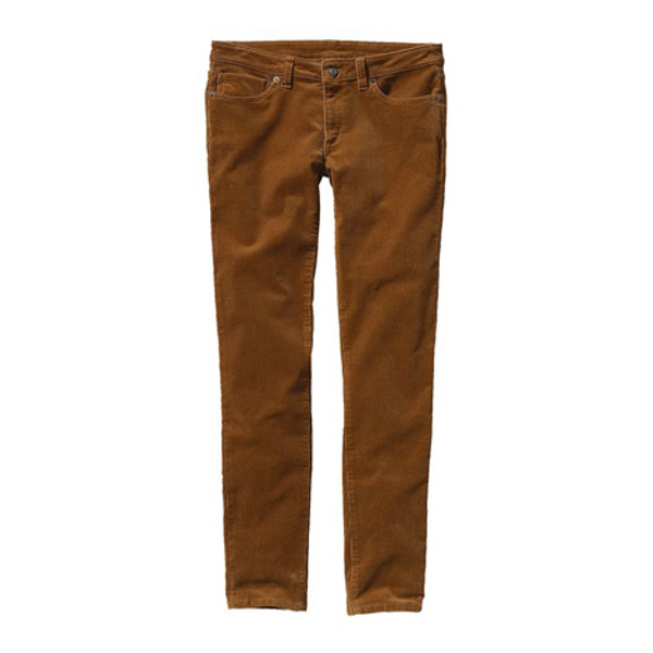 Womens Fitted Corduroy Pants