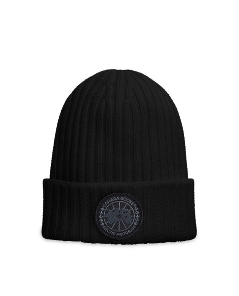 CANADA GOOSE Black Disc Rib Toque