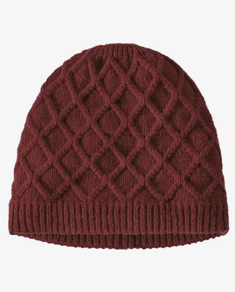 Womens Honeycomb Knit Beanie