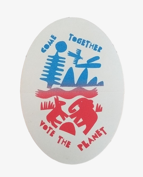 Come Together for the Planet Animal Sticker