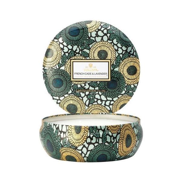 VOLUSPA 3 Wick Candle in Decorative Tin 60 Hour