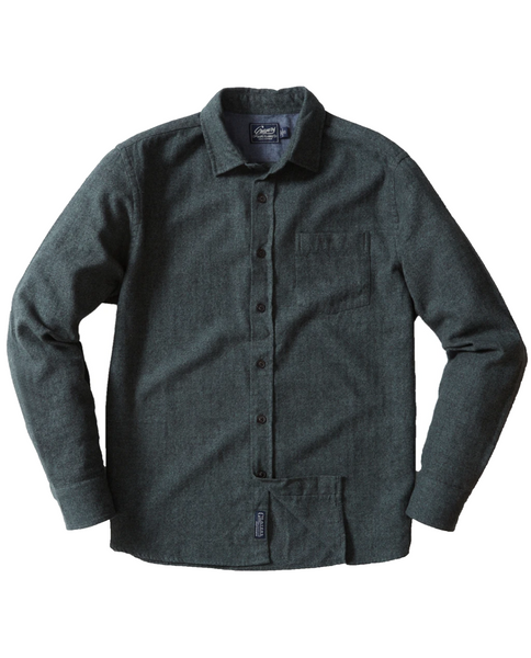 Mens Buford Herringbone Flannel - Forest