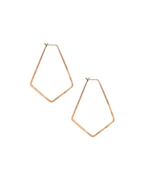 Small Marquis Hoop Earrings