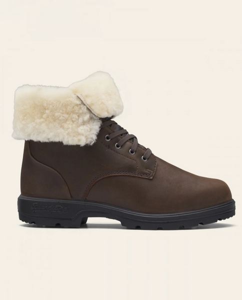 Lace Up Boots - Antique Brown