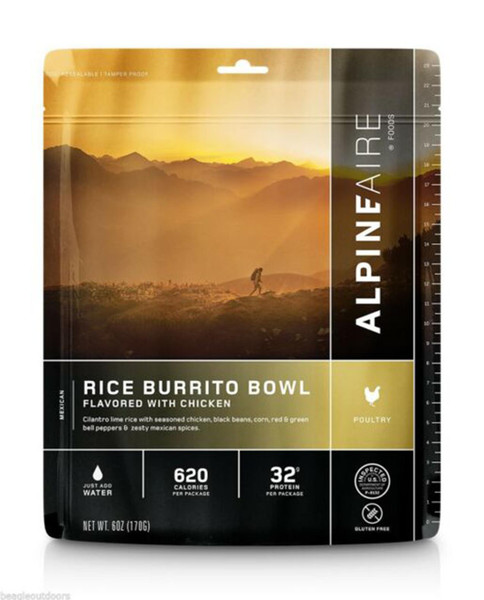 ALPINE AIRE FOODS Chicken and Rice Burrito Bowl