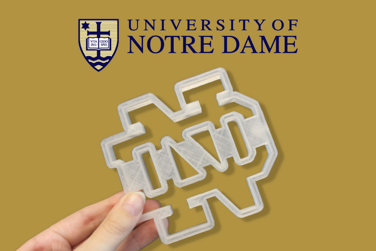 Notre Dame University Cookie Cutter