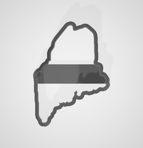 Maine State Cookie Cutter