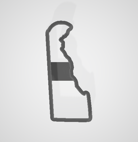 Delaware State Cookie Cutter