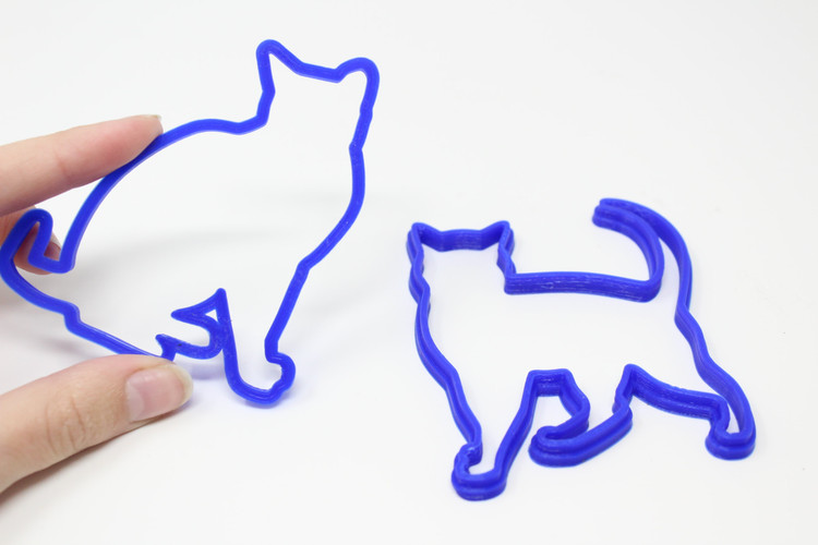 Cat Cookie Cutters (Set of Two)