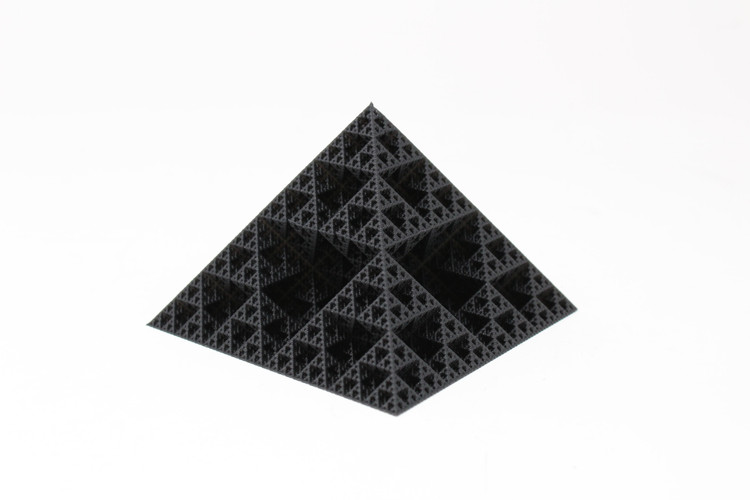 Fractal Pyramid Paperweight