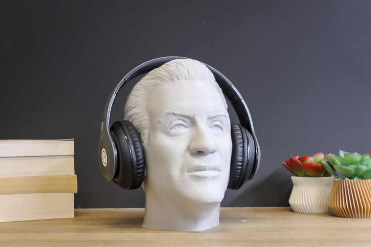 Sylvester Stallone Headphone Stand
