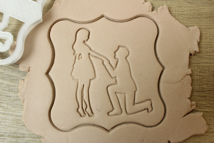 Silhouette Proposal Cookie Cutter