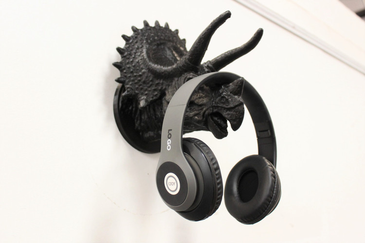 Triceratops Headphone Wall Mount