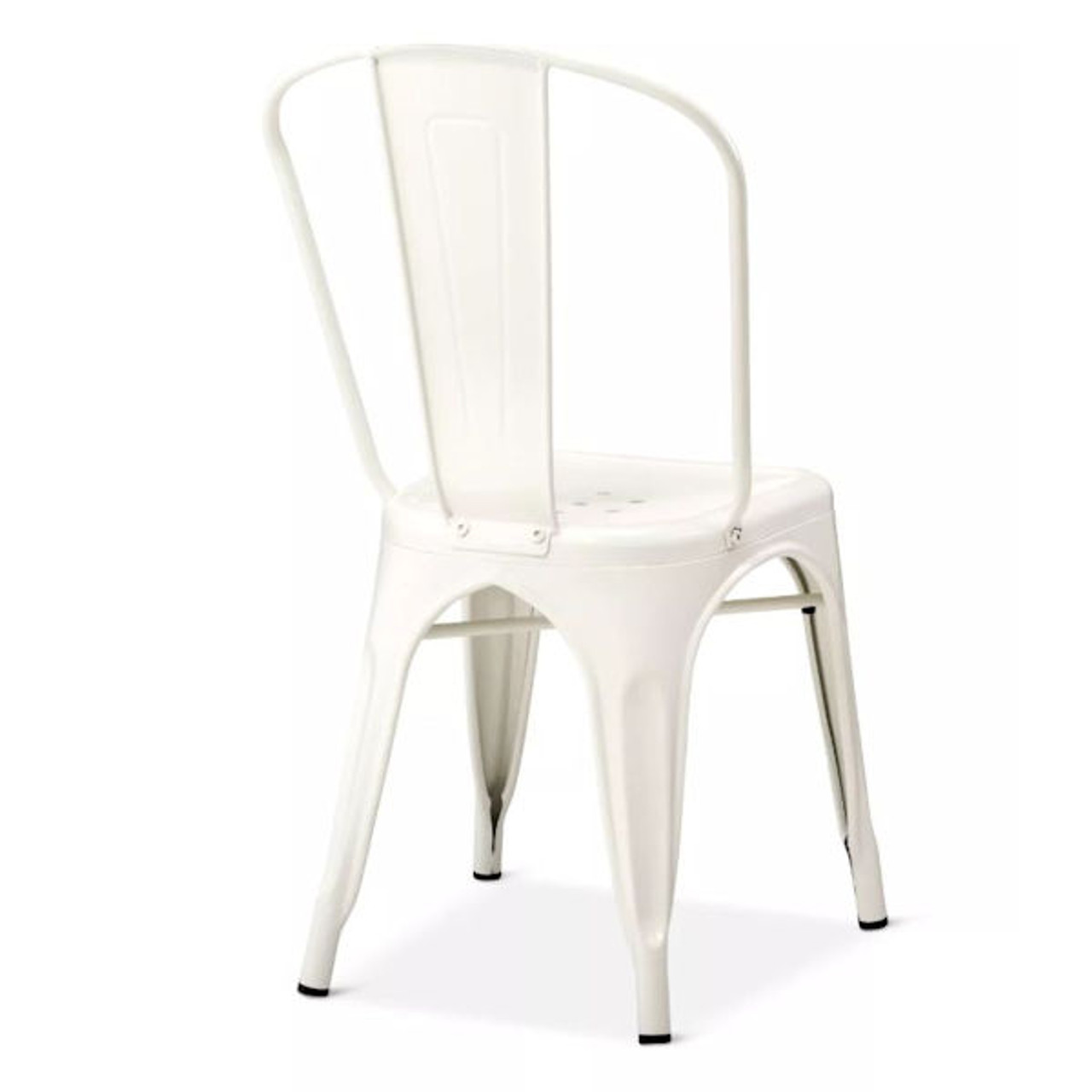 Carlisle High Back Dining Chair in White - Set of 2