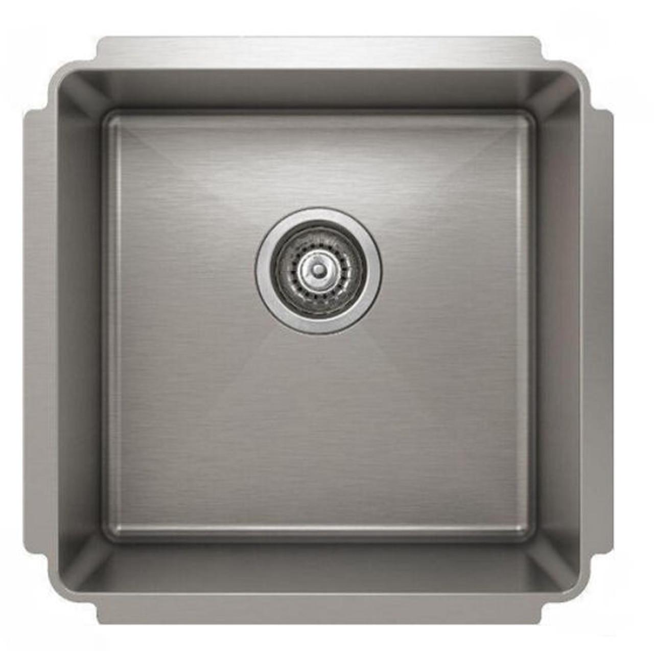 Pro Chef Prolnox IH75-18188 Undermount Single Bowl Kitchen Sink - Silver