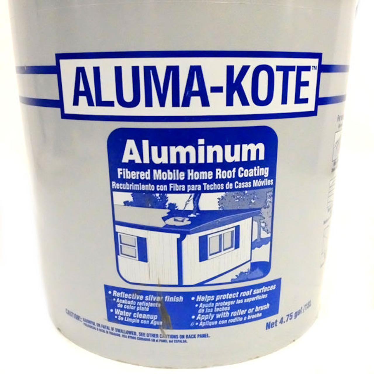 Gardner Aluma Kote Gloss Aluminum Fibered Aluminum Roof Coating 4 75 Gal Gotsurplus