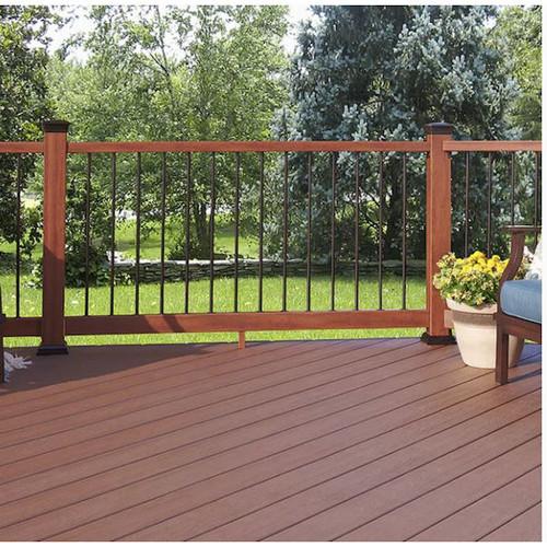 Fiberon 3.5-in x 4-in x 6-ft, Mahogany Composite Deck Handrail 435558,8 Sets-NEW