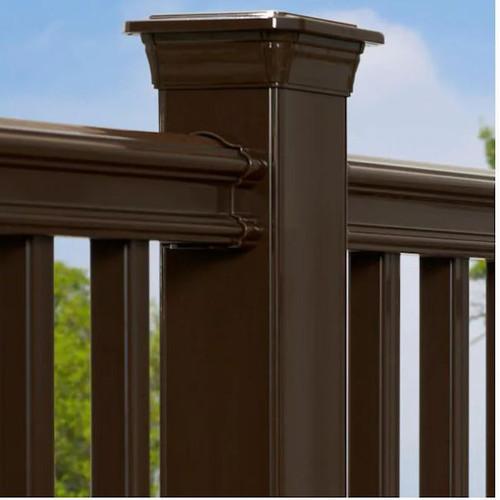 Fiberon Classic Chestnut Brown PVC Line Brackets # 774159, 12 Packs of 2